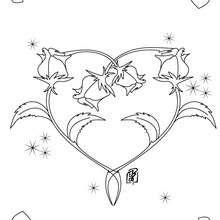 Coloriage d'un coeur de roses - Coloriage - Coloriage FETES - Coloriage SAINT VALENTIN - Coloriage ROSE SAINT VALENTIN