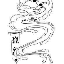 Coloriage d'un vieux dragon