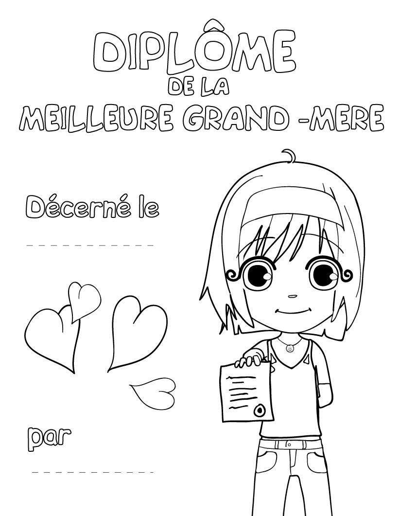 Cartes Pour Le Fête Des Grands Mères Coloriages
