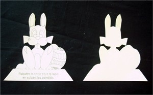 Fiche bricolage: les lapins de Pâques. - Activités - BRICOLAGE PAQUES - Les lapins de décoration pour Pâques.