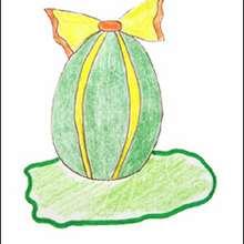 Oeuf de Pâques décoré - Dessin - Apprendre à dessiner - Dessiner Pâques