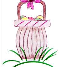 Le panier de Pâques - Dessin - Apprendre à dessiner - Dessiner Pâques