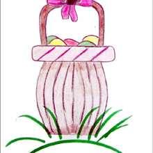 Tuto de dessin : Le panier de Pâques