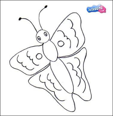 Comment dessiner papillon du printemps - Comment dessiner un papillon ...