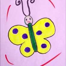 Petit papillon - Dessin - Apprendre à dessiner - Dessiner Pâques