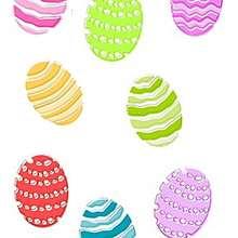 Planche de gros oeufs de Pâques. - Activités - BRICOLAGE PAQUES - La nappe décorée de Pâques.