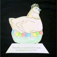 Activité : Fiche bricolage: les poules de Pâques.