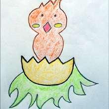 Petit poussin de Pâques - Dessin - Apprendre à dessiner - Dessiner Pâques
