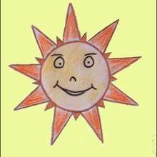 Monsieur Soleil - Dessin - Apprendre à dessiner - Dessiner Pâques