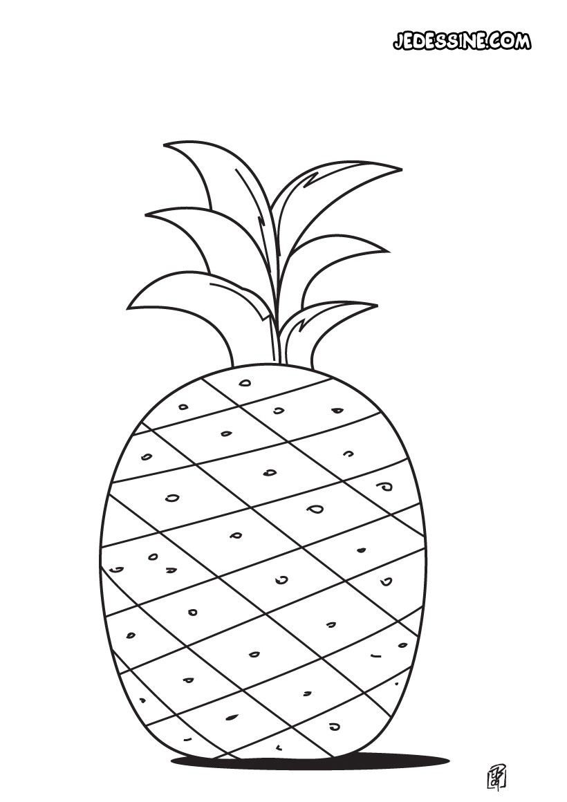 Coloriages coloriage d 39 un ananas - Coloriages a colorier ...