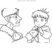 Coloriage de Toki et Sosuke