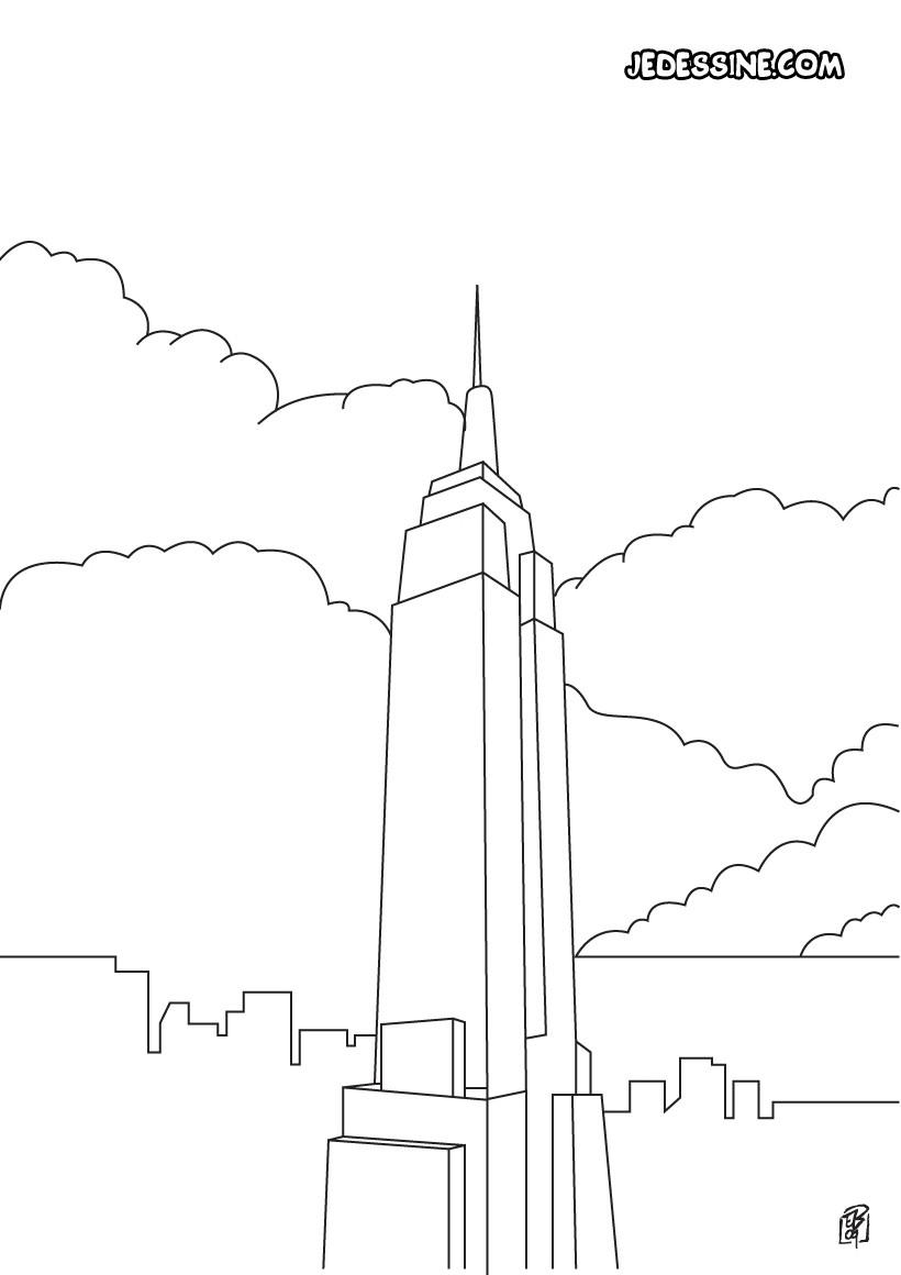 Coloriages Coloriage De L Empire State Building Fr