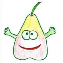 Dessiner Madame Poire - Dessin - Apprendre à dessiner - Dessiner des fruits