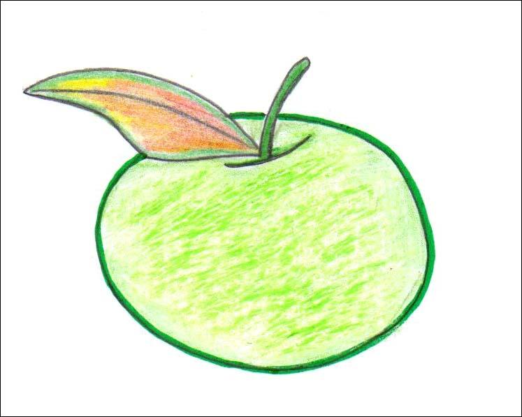 Comment dessiner une pomme - Dessiner un fruit ...