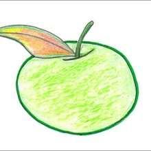 Dessiner une pomme - Dessin - Apprendre à dessiner - Dessiner des fruits