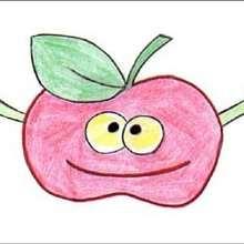 Dessiner Madame Pomme - Dessin - Apprendre à dessiner - Dessiner des fruits