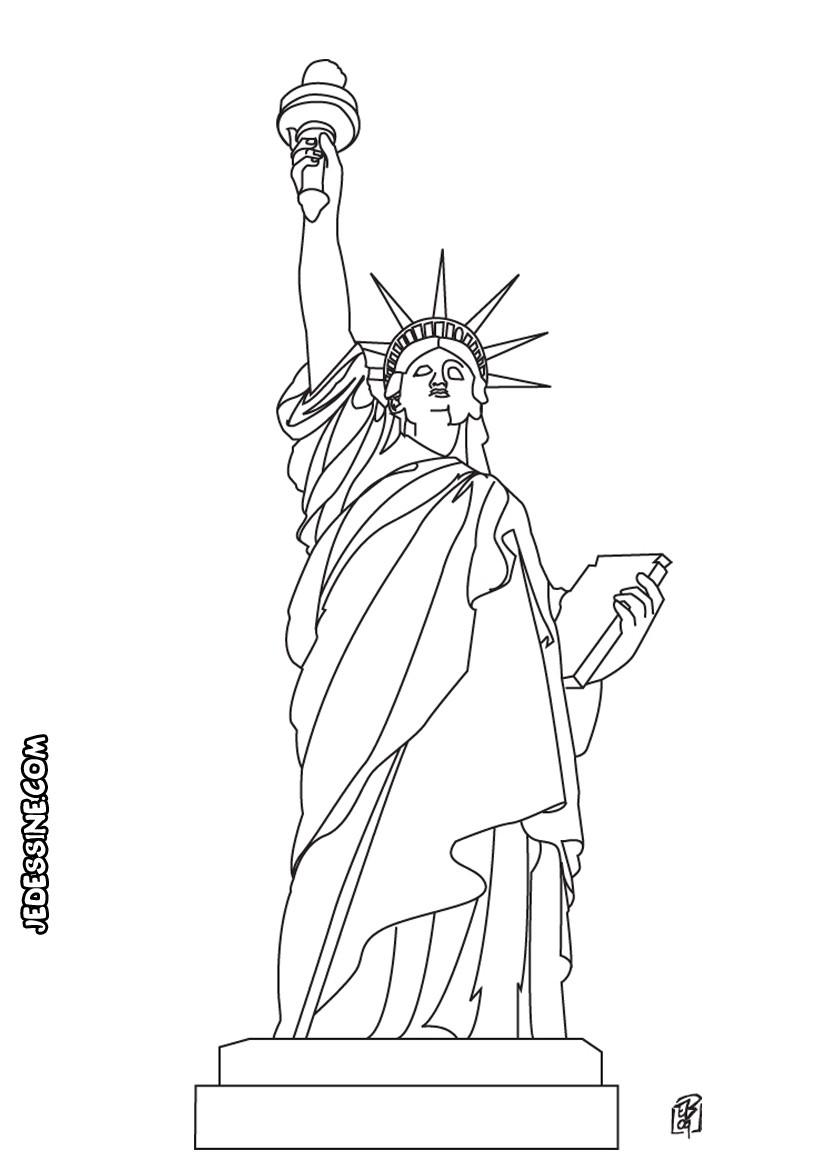 Coloriage de la Statue de la Liberté