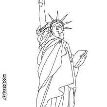 Coloriage de la Statue de la Liberté - Coloriage - Coloriage HISTOIRE ET PAYS - Coloriage ETATS-UNIS - Coloriage MONUMENTS AMERICAINS