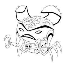Coloriage de Crabe Alien - Coloriage - Coloriage BEN 10 ALIEN FORCE
