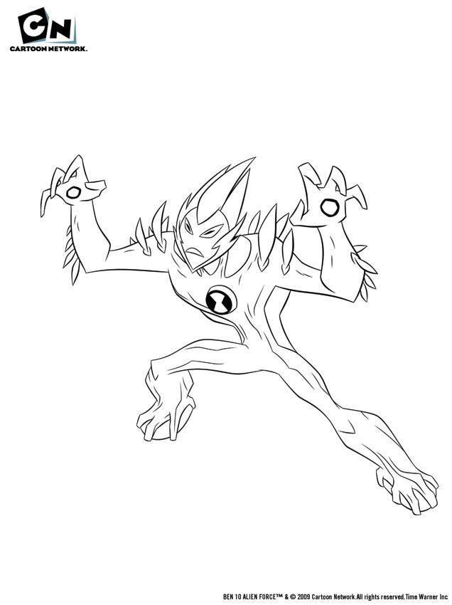 Ben 10 Coloring Pages Swampfire - Фото база