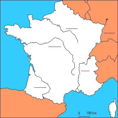carte de france 5 fleuves