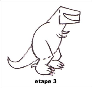 how to draw a real t rex
