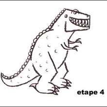 Tuto de dessin : Le Tyrannosaure Rex