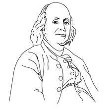 Coloriage de Benjamin Franklin