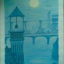 Au clair de Lune. - Dessin - Dessin PAYSAGES - Dessin PAYSAGES A COLORIER