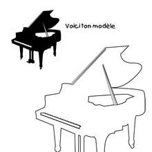 Coloriage d'un piano