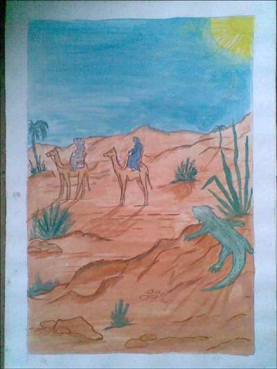 comment dessiner travers u00e9e dans le desert