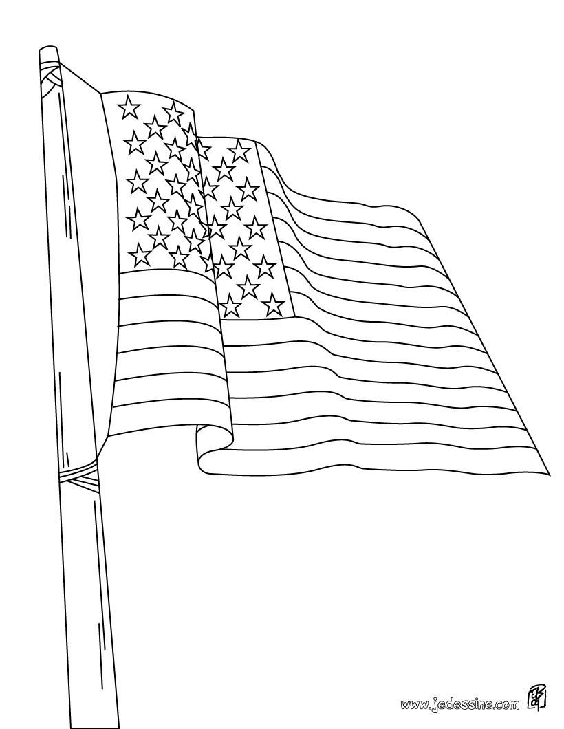 Coloriage du drapeau américain