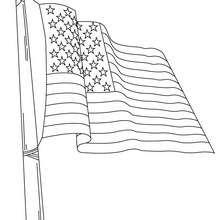 Coloriage du drapeau américain - Coloriage - Coloriage HISTOIRE ET PAYS - Coloriage ETATS-UNIS - Coloriage DRAPEAU AMERICAIN