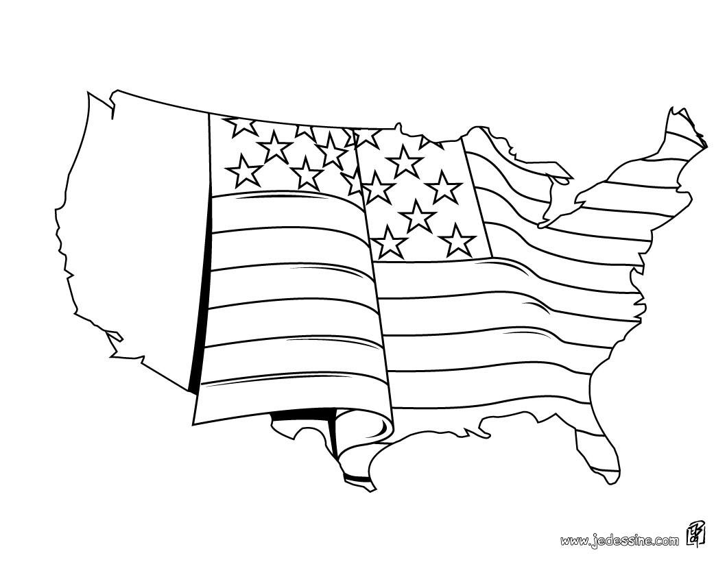 dessin drapeau usa