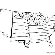 Coloriage des Etats-Unis - Coloriage - Coloriage HISTOIRE ET PAYS - Coloriage ETATS-UNIS - Coloriage ETATS-UNIS A IMPRIMER