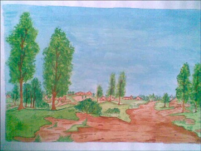 Comment dessiner paysage de somaya et khawala - Paysage peinture facile ...