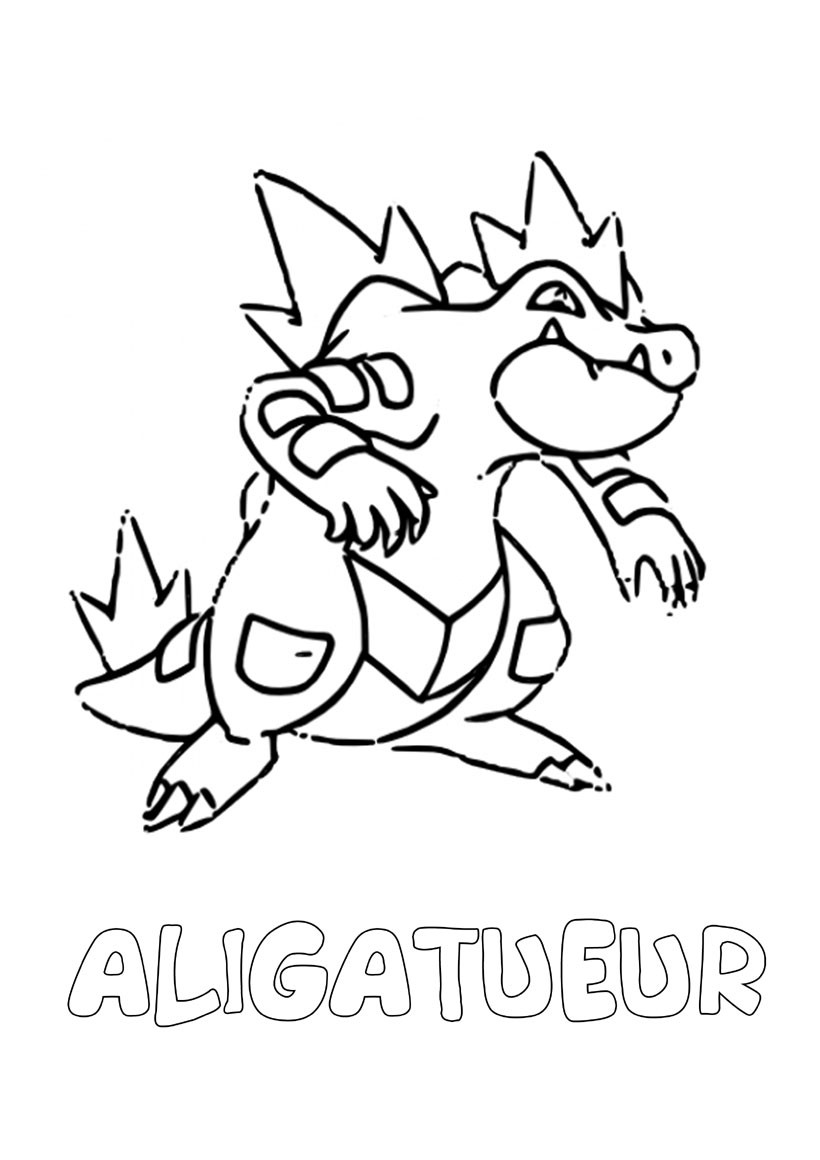 Coloriages aligatueur - Pokemon coloriage ex ...