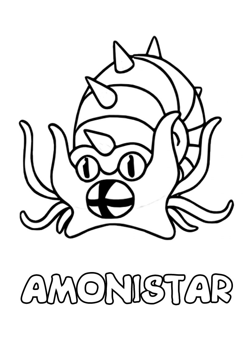 Coloriages amonistar - Coloriage pokemon en ligne ...