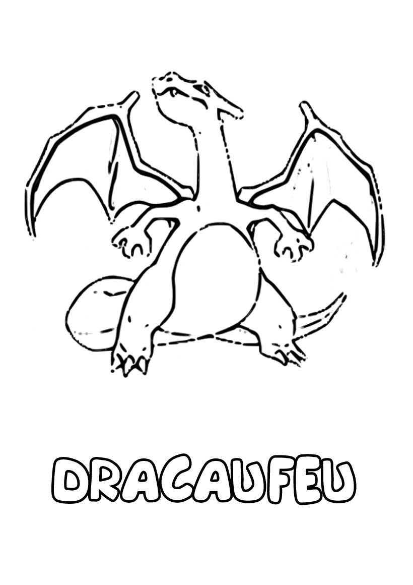 Coloriages dracaufeu - Dracaufeu coloriage ...