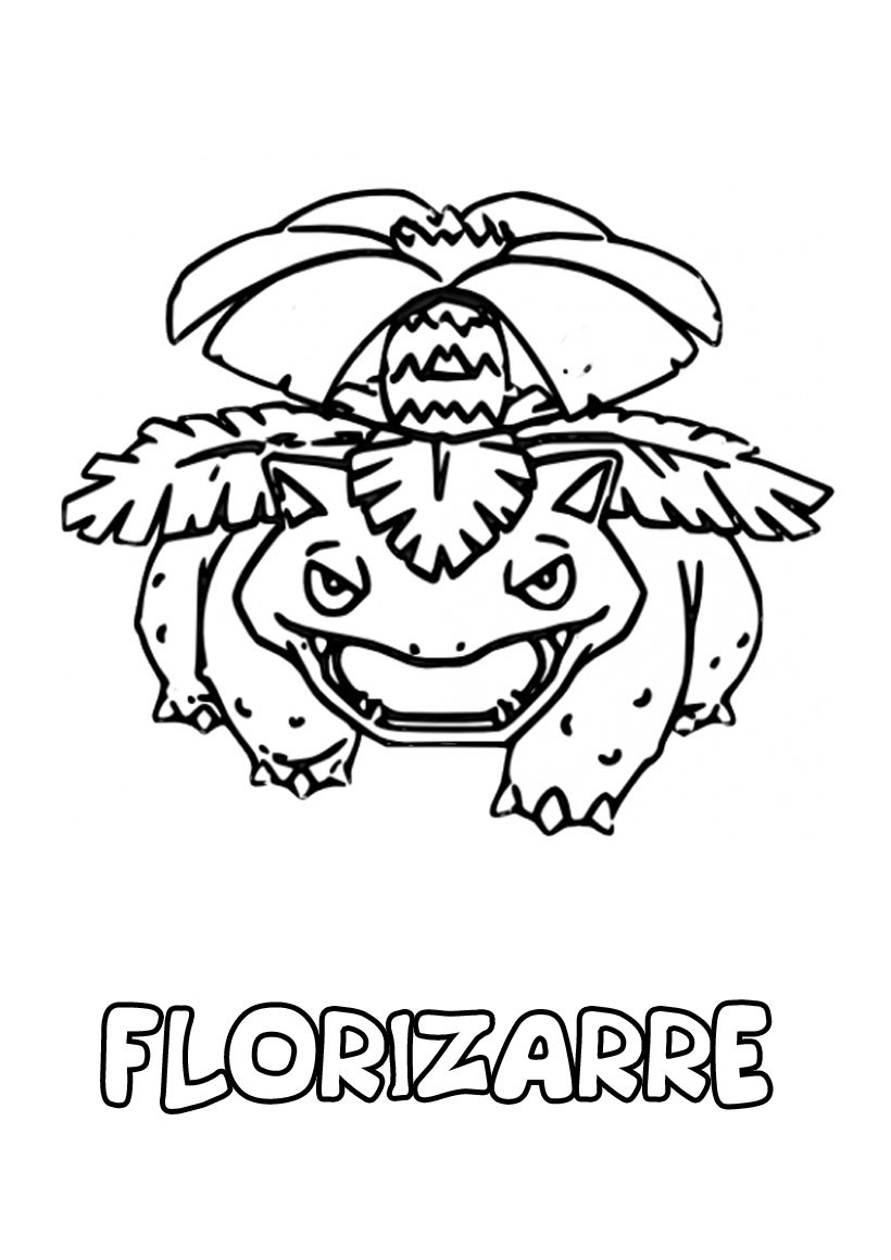Coloriages florizarre - Pokemon florizarre ...