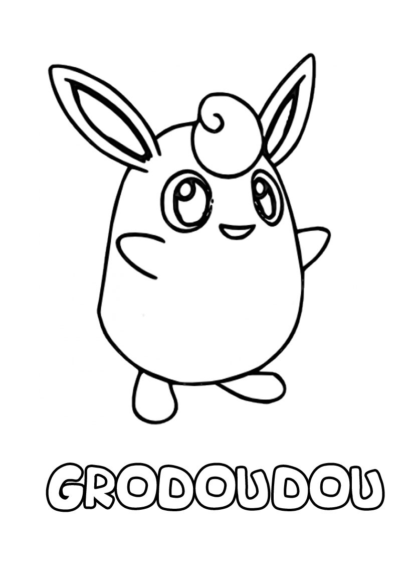 Coloriages grodoudou - Coloriage pokemon en ligne ...
