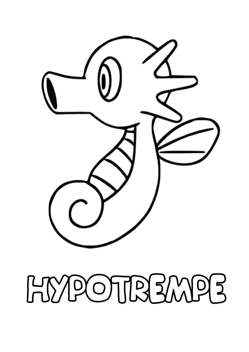 Coloriages hypotrempe - Coloriage pokemon en ligne ...