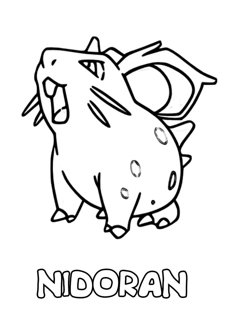 Pokemon para colorear atrápalos a todos - Parte 1
