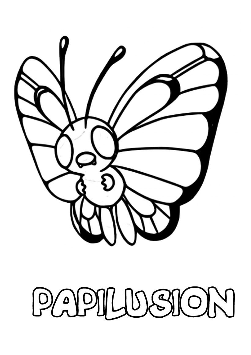 Coloriages papilusion - fr.hellokids.com