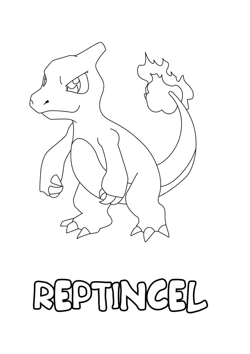 Coloriages reptincel - Coloriage de pokemon a imprimer ...