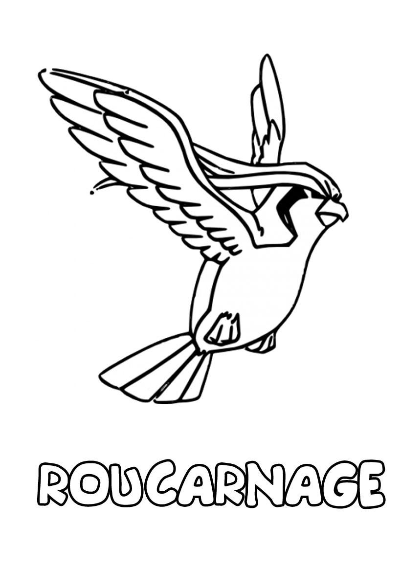 Coloriages roucarnage - Coloriage pokemon imprimer ...