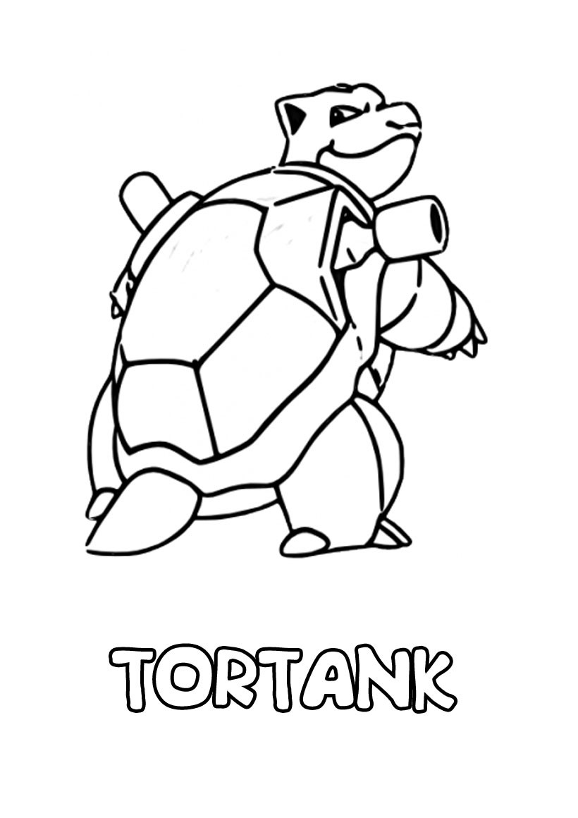 Coloriages tortank - Coloriage de pokemon a imprimer ...