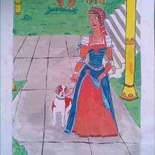 Dessin d'enfant : La princesse et son compagnon