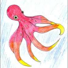 Dessiner une pieuvre - Dessin - Apprendre à dessiner - Dessiner des poissons