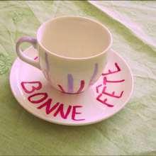 Activité : La tasse à café Bonne fête !